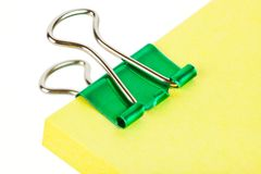 Note paper and clip Royalty Free Stock Images