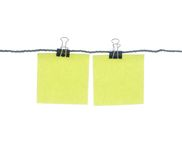 Note paper and clip Royalty Free Stock Photography