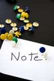 Note on paper Royalty Free Stock Image