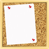 Note paper on cork board. Stock Photo