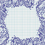 Note paper design Royalty Free Stock Photos