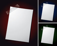 Note Paper on Different Backgrounds Royalty Free Stock Photo