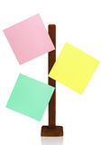 Note paper of different colors Royalty Free Stock Photos