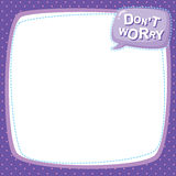 Note paper - don't worry Stock Images