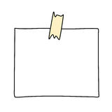 Note paper drawing royalty free illustration