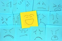 Note paper of emotion Royalty Free Stock Photos