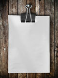 Note Paper Hang On Wood Panel Royalty Free Stock Photos