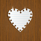 Note Paper heart Royalty Free Stock Photography
