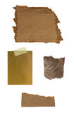 Note paper isolated on white. Mix of note paper isolated on white royalty free stock photography