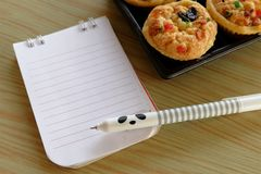 Note paper memo write menu Royalty Free Stock Image