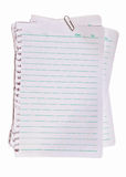 Note paper and metal pape clip Stock Photos