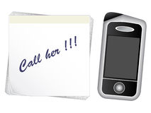 Note paper - mobile phone Royalty Free Stock Photo