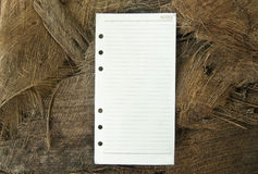 Note paper with nature background Stock Images