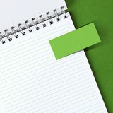Note paper on notebook Royalty Free Stock Images