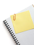 Note paper and notebook on white Stock Photo