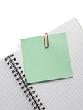 Note paper and notebook on white Stock Images