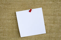 Note Paper on Notice Board Royalty Free Stock Photos