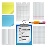 Note paper office set Royalty Free Stock Image