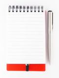 Note paper with pen Stock Photos