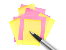 Note paper and pen Royalty Free Stock Photography