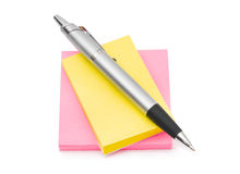 Note paper and pen Stock Images