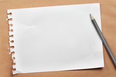 Note paper and pencil. Royalty Free Stock Photo