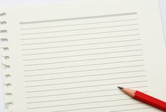 Note paper and pencil Royalty Free Stock Image