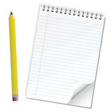 Note paper pencil Stock Photos