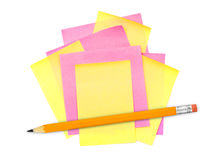 Note paper and pencil Royalty Free Stock Photos
