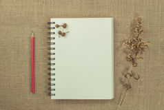 Note paper and Pencil Royalty Free Stock Images