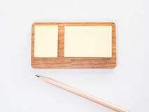 Note paper with pencil Royalty Free Stock Photo