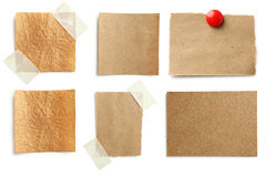 Note paper. Piece of note paper on white background, collage royalty free stock photo