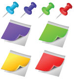 Note Paper Pin Stock Image