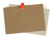 Note paper and pin Royalty Free Stock Images