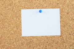 Note paper pined on cork board background Stock Images