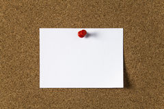 Note paper with Push Pin Stock Photography