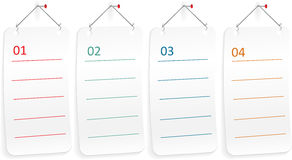 Note paper with push pin . Vector Stock Photos