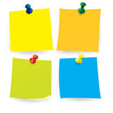 Note Paper with Push Pin Royalty Free Stock Image