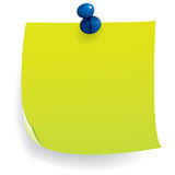 Note Paper with Push Pin Royalty Free Stock Images