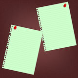 Note paper and red push pin Royalty Free Stock Photo