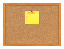 Note paper Resolution on Cork board isolated Royalty Free Stock Photos