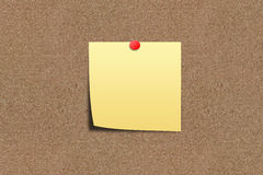 Note paper on sand board Royalty Free Stock Photo