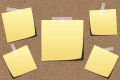 Note paper on sand board Stock Photography
