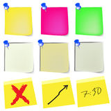 Note paper set Stock Images