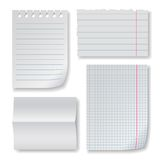 Note paper set Royalty Free Stock Image
