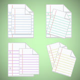 Note paper sheet with colorful lines Royalty Free Stock Image