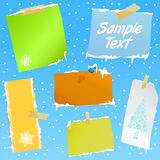 Note paper with snow effect Royalty Free Stock Images