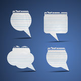 Note Paper Speech Bubbles Stock Photo