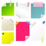 Note paper sticker set Royalty Free Stock Photography