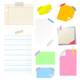Note paper sticker set Royalty Free Stock Photos